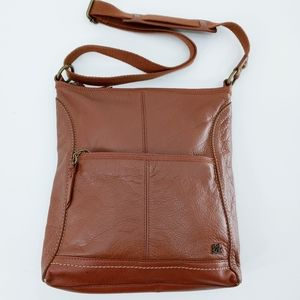The Sak Iris Cognac Leather Crossbody Bag